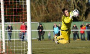 Brora Rangers goalkeeper Joe Malin.