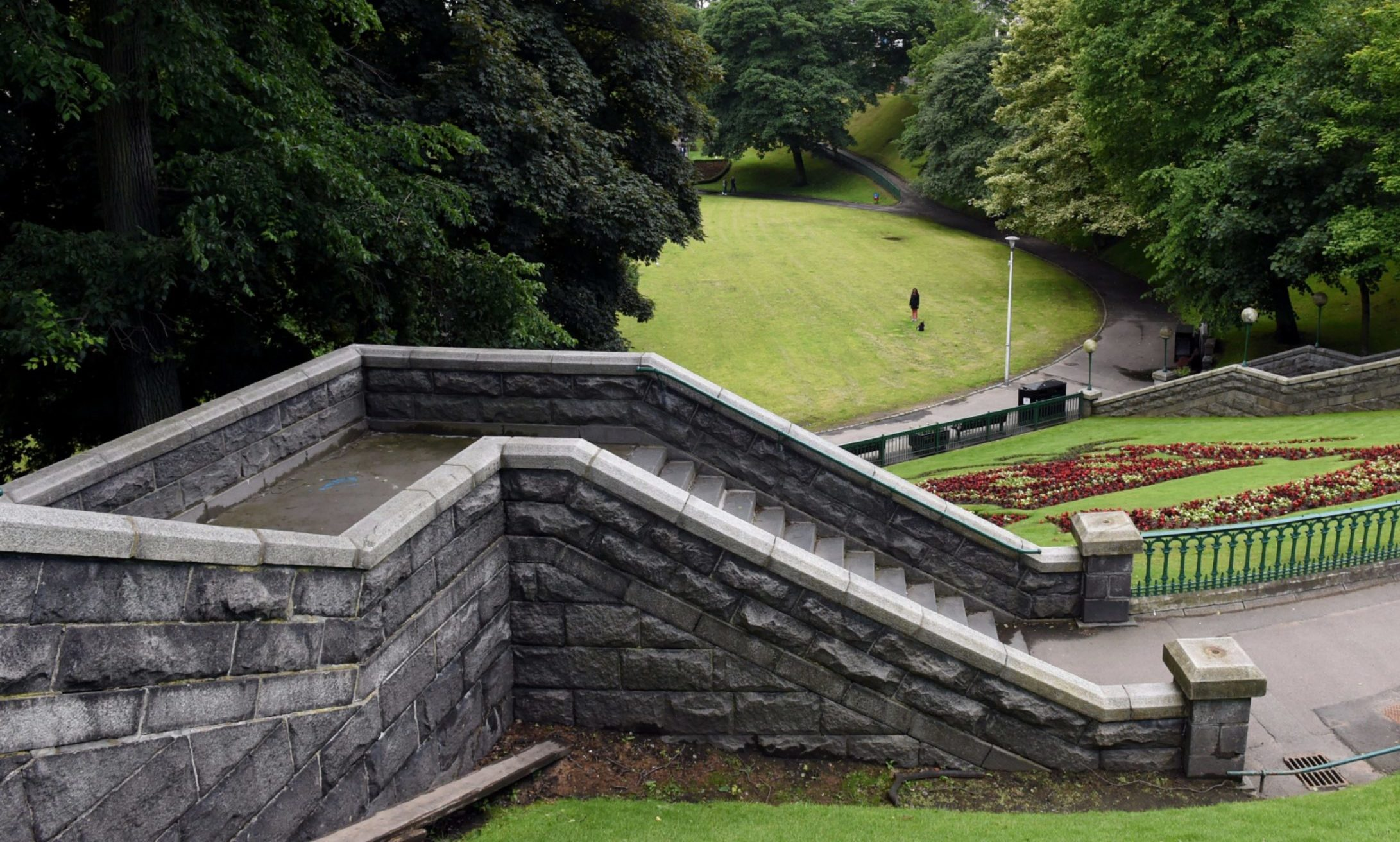 It is thought the granite found in an Aberdeen garden could be from the staircase leading into Union Terrace Gardens, photographed in 2017.