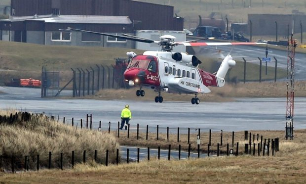 Coastguard helicopter at Sumburgh Airport