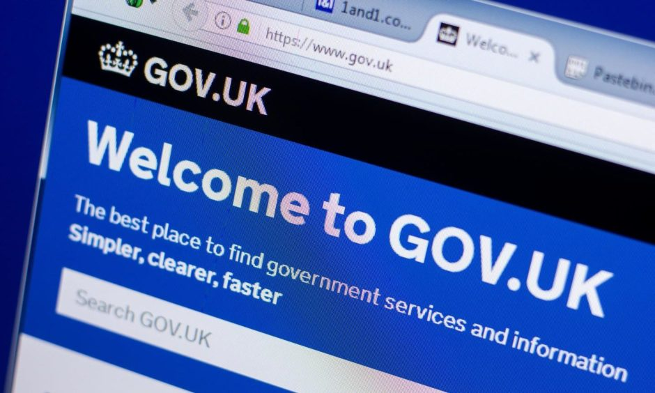 government website down