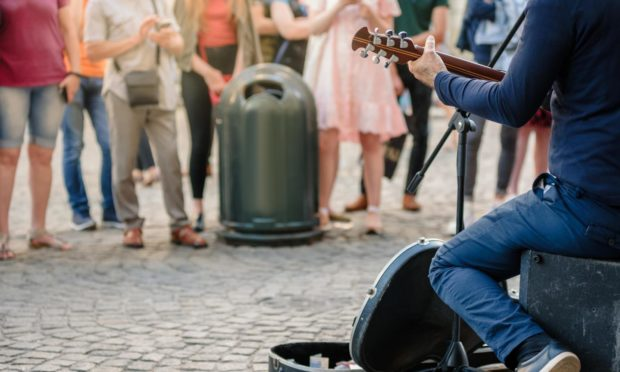 It's encouraging to see buskers back on the streets of Aberdeen