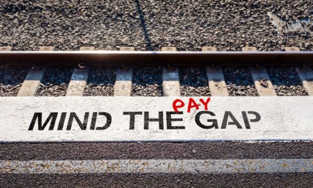 The pay disparity between men and women sits at an average of 10.9% in Scotland