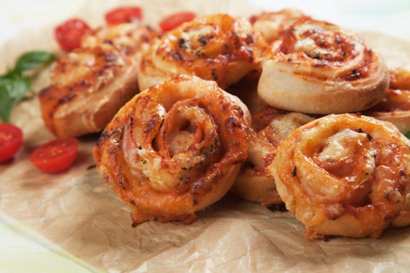 Homemade pizza rolls.