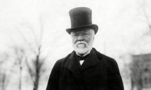 Andrew Carnegie rebuffed Frederick Cook's hopes of financing an Antarctic expedition.