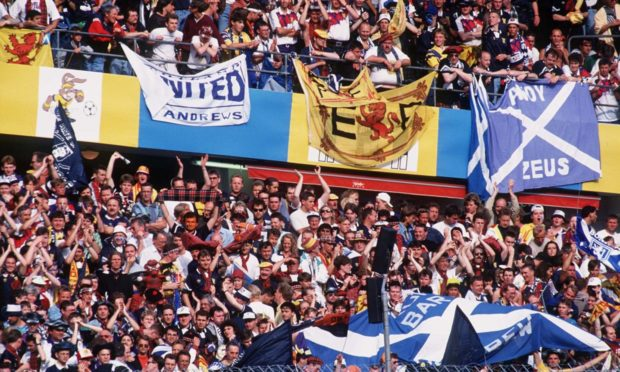 Scotland fans in Sweden for Euro 1992