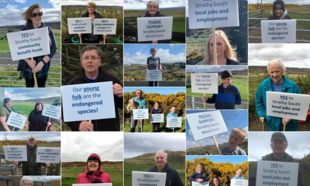 Strathy South wind farm supporters.
