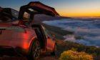 Tesla model X: a versatile recreational vehicle that handles off-road terrain, too.