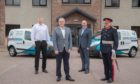 L-R left, Marcin Janus, Perfectshine operations manager, Steve Kennedy, Perfectshine managing director, Stewart Gardiner, commercial director at Perfectshine, and Sandy Manson, Her Majesty's Lord-Lieutenant in Aberdeenshire.