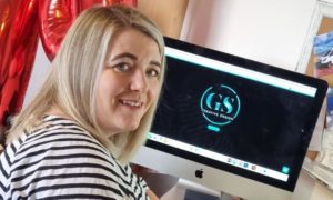 Gemma enjoys working from home but has ambitions to eventually get her own work premises