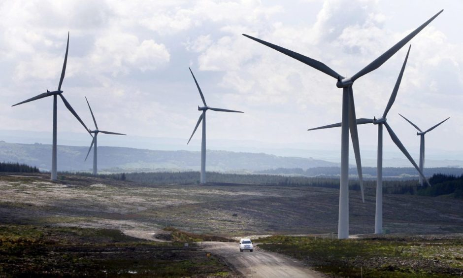 St Andrews wishes to build an on-shore windfarm at Kenly, like the one pictured