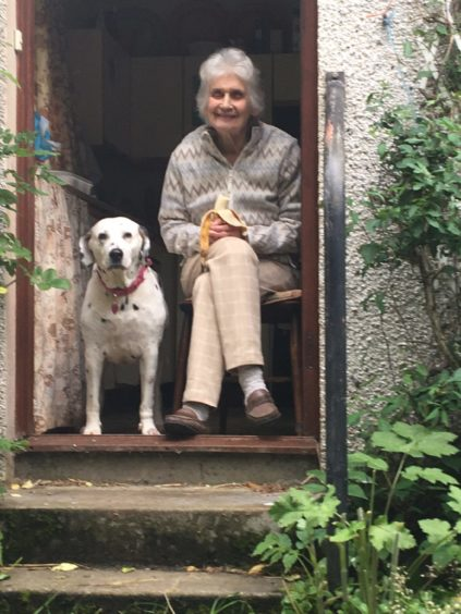 Katherine Donnachie sent us this lovely photo of her sister's dog Rosie, pictured with her mum Ida Donnachie, at Bakerhill, Maryburgh, Ross-shire. Katherine tells us Rosie is Ida's  constant companion, and Rosie even takes part in family FaceTime sessions started under lockdown.