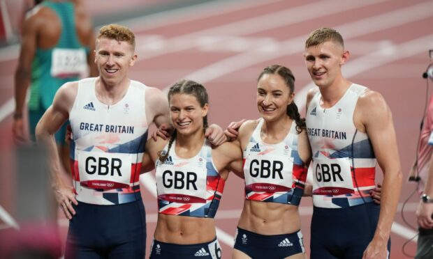 Team GB's Cameron Chalmers, Zoey Clark, Emily  Diamond and Lee Thompson.