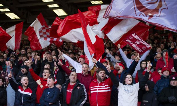 Aberdeen supporters rock Pittodrie in the Scottish Cup tie just weeks before lockdown.