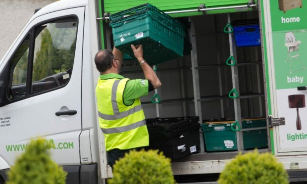 Growing numbers of delivery drivers and shop workers are being asked to self-isolate.