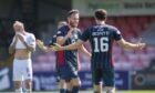 Alex Iacovitti celebrates making it 2-0 against Montrose.