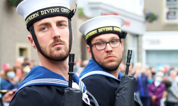 Royal Navy personnel lined the streets of Kirkwall, Orkney after being awarded the freedom or Orkney.