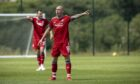 Aberdeen's Scott Brown in action in the pre-season friendly with St Johnstone. Supplied by Newsline Media for Aberdeen FC.