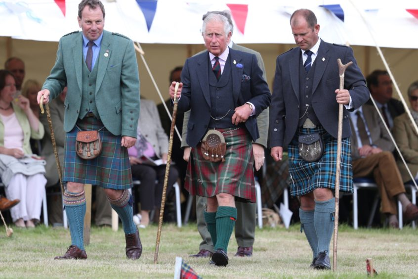 The Duke of Rothesay as he attends the Mey Highland Games at John O'Groats in Caithness in 2018.