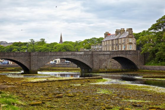 River levels are currently low in Wick. Picture from Shutterstock