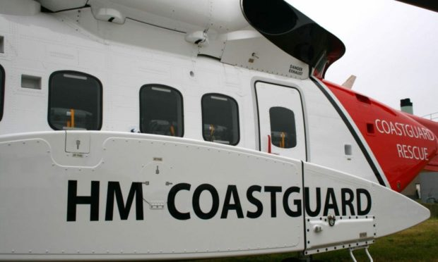The injured crewman was airlifted to hospital.