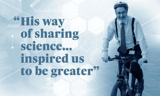 Dr Anthony Luke who inspired his students with his love of science.
