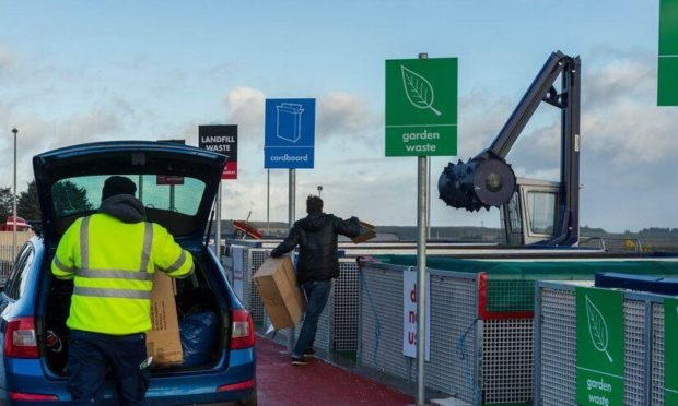 Aberdeenshire Council are lifting the limits on recycling centre.
