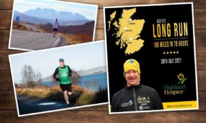 Ally is aiming to complete the 180-mile route in 70 hours.