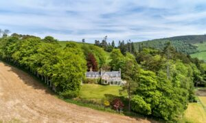Ardhuncart Estate was once a holiday home used by the Queen's distant cousin and friend Lady Kennard.