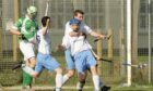 Will Cowie, pictured celebrating scoring a hat-trick for Skye, is sidelined for the rest of the campaign.