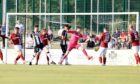 Creag Little puts Elgin in front early on against Kelty Hearts.