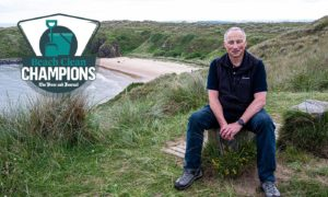 Craig Leuchars, featured in week six of our Beach Clean Champions series at Hackley Bay.  Picture by Wullie Marr.