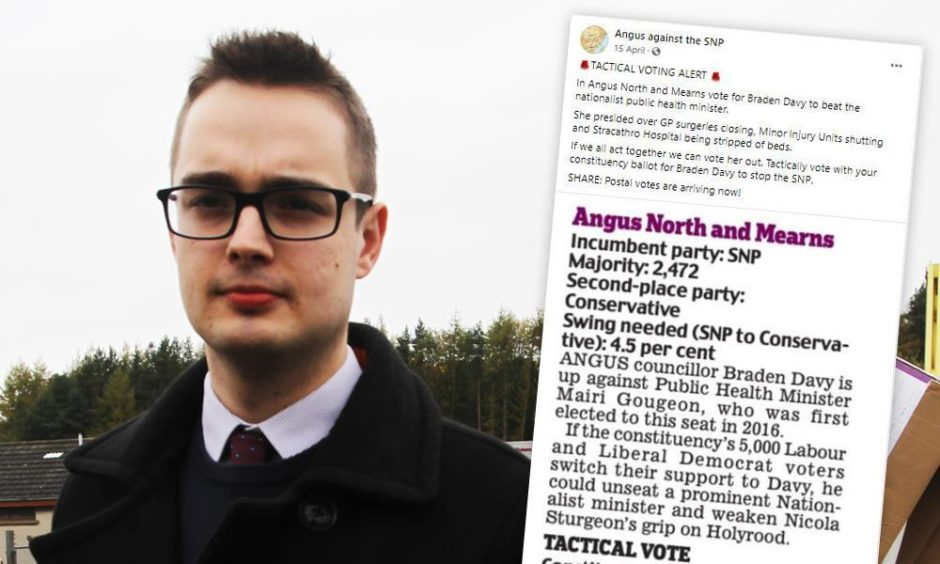 Police Scotland could look into Braden Davy's use of the anonymous troll account.