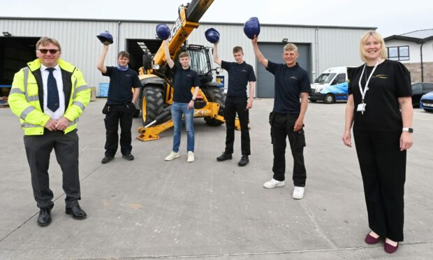 Staff and apprentices at WM Donald in Aberdeenshire.