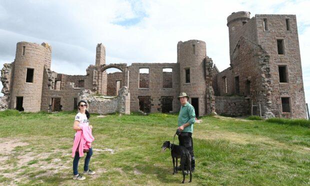 Gayle joins Formartine ranger David and his dog Millie for a historic walk around Slains Castle.