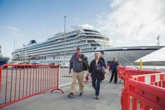 Lerwick is a popular destination for cruise liners.