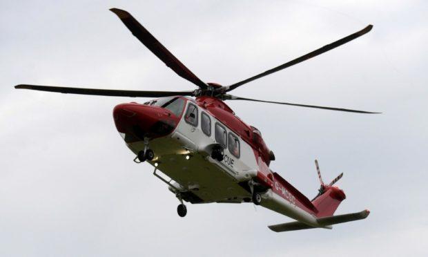 A coastguard helicopter.