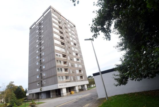 Wallace House, one of the affected high-rises. Picture by Heather Fowlie