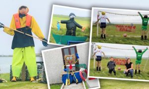 Westray scarecrows