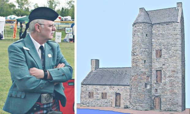 Clan MacTavish historian Patrick Thompson has created a visual impression of how the now ruined former seat of the clan would have looked.