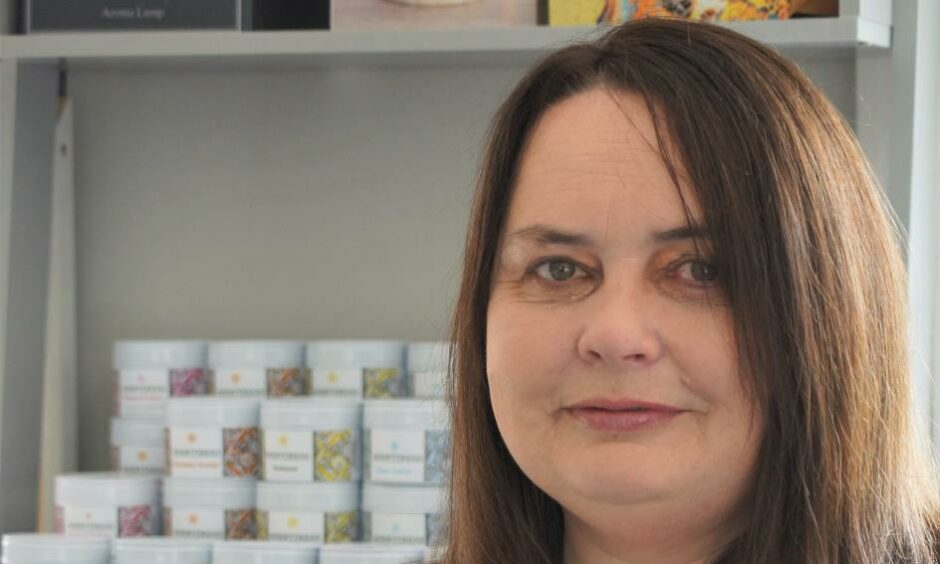 Marie Gillies, started up her business ScentiNess after receiving £4,500 from Business Gateway