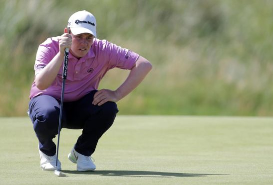 Robert MacIntyre found his pace with the putter for a five-under 65.