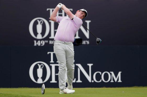 Scotland's Robert MacIntyre on the 1st tee.