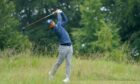Xander Schauffele in action at the Abrdn Scottish Open at Renaissance Club.