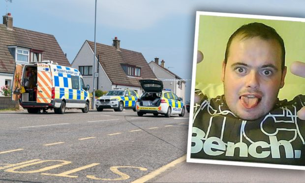 Drug courier Garry Collie crashed his motorbike in Elgin