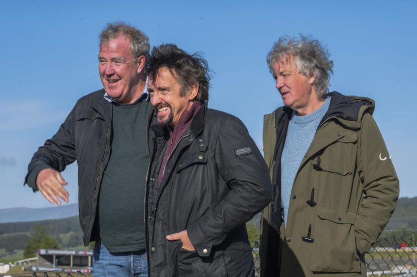 Grand Tour hosts in Scotland filming The Grand Tour Lochdown