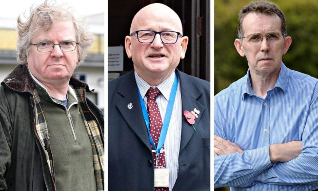 """Councillors Ian Yuill (left) and Steve Delaney (right) will face a Standards hearing for comments made about fellow councillor Alan Donnelly, branded the council's """"resident sex offender""""."""