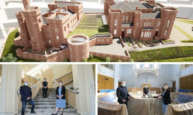 Inverness Castle is being transformed into what the local council hopes will be a world-class visitor attraction.