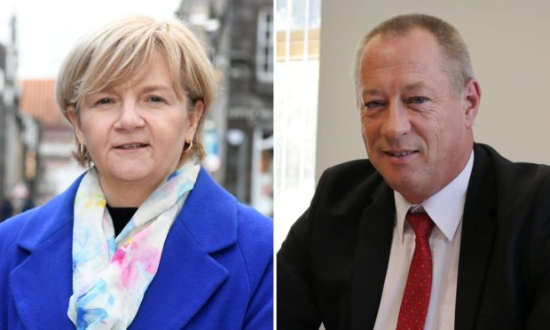 Jenny Laing and Andy Kille are the leaders of Aberdeen City and Aberdeenshire councils.