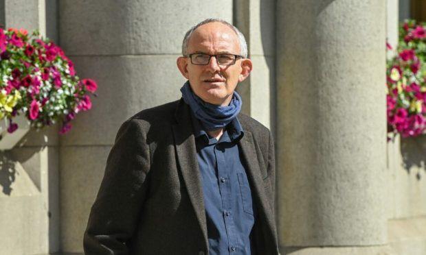 Stuart Wyness leaving Aberdeen Sheriff Court.