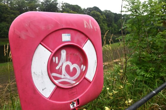 A check of life rings on a two-mile stretch of the River Dee found several with graffiti and three which had damage.